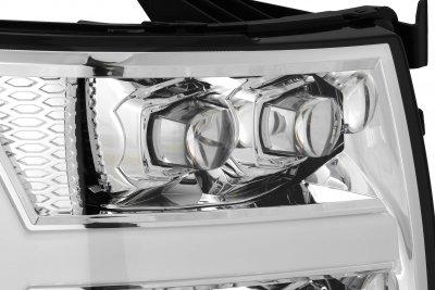 Chevy Silverado 2500HD 2007-2014 LED Quad Projector Headlights DRL Dynamic Signal Activation