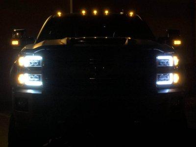 Chevy Silverado 2500HD 2015-2019 LED Quad Projector Headlights DRL Activation