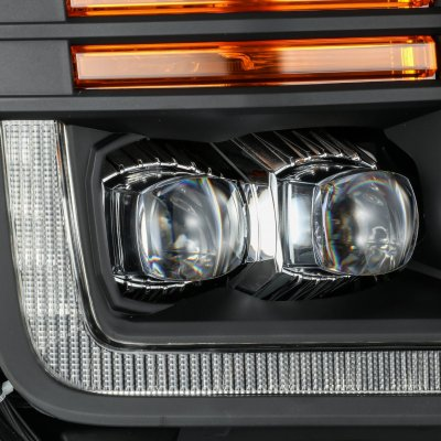 Ford F150 2018-2020 Black LED Quad Projector Headlights DRL Dynamic Signal Activation