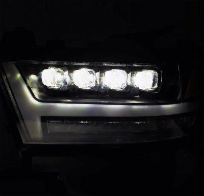 Dodge Ram 1500 2019-2021 Glossy Black LED Quad Projector Headlights DRL Dynamic Signal Activation