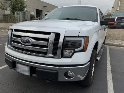 Ford F150 2009-2014 Glossy Black Projector Headlights LED DRL Dynamic Signal Activation