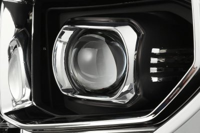 Toyota Tundra 2014-2021 Black Projector Headlights LED DRL Activation Level