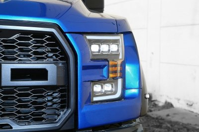 Ford F150 2015-2017 Black LED Quad Projector Headlights DRL Dynamic Signal Activation