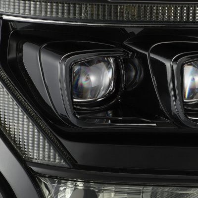 Ford F150 2015-2017 Glossy Black Smoked LED Quad Projector Headlights DRL Dynamic Signal Activation