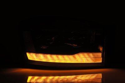 Dodge Ram 2006-2008 5th Gen Black LED Projector Headlights DRL Dynamic Signal Activation