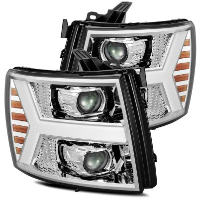 Chevy Silverado 2500HD 2007-2014 LED Projector Headlights DRL Dynamic Signal Activation