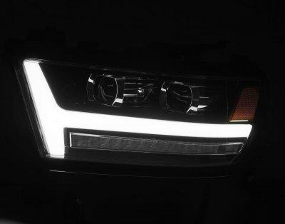 Dodge Ram 1500 2019-2021 Black LED Projector Headlights DRL Dynamic Signal Activation