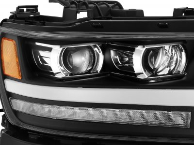 Dodge Ram 1500 2019-2021 Glossy Black LED Projector Headlights DRL Dynamic Signal Activation