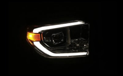 Toyota Tundra 2014-2021 Black LED Projector Headlights DRL Activation Level