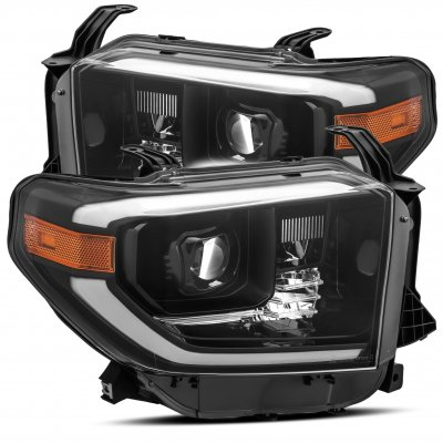 Toyota Tundra 2014-2021 Glossy Black LED Projector Headlights DRL Activation Level