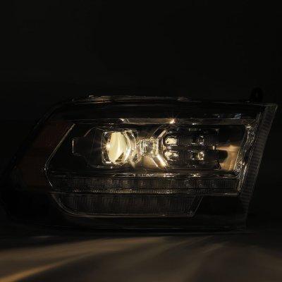 Dodge Ram 2500 2010-2018 5th Gen LED DRL Blackout Projector Headlights AlphaRex