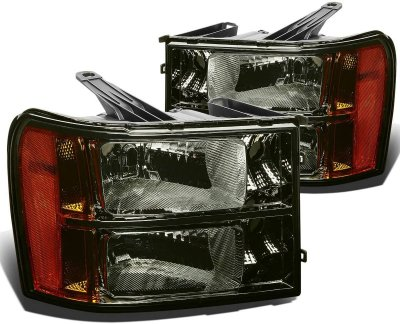 GMC Sierra 2007-2013 Smoked Headlights