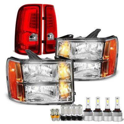 GMC Sierra 2007-2013 LED Bulbs Headlights LED Tail Lights