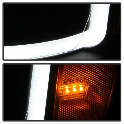 Dodge Ram 2006-2008 Black LED Tube Projector Headlights