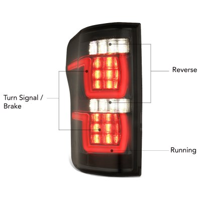 Ford F150 XL 2015-2017 Smoked Full LED Tail Lights