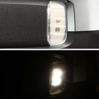 Chevy Silverado 1500 2019-2021 Chrome Side Mirrors Power Heated LED Signal Puddle Lights