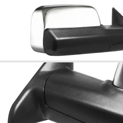 Dodge Ram 1500 2013-2018 Chrome Power Heated Towing Mirrors