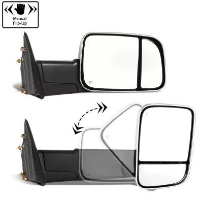 Dodge Ram 1500 2009-2012 Chrome Power Heated Towing Mirrors