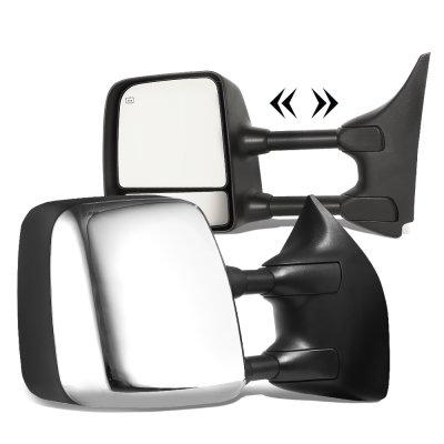 Nissan Titan 2004-2015 Chrome Towing Mirrors Power Heated