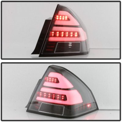Chevy Impala 2006-2013 Black Dual Tube LED Tail Lights