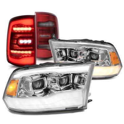 Dodge Ram 2009-2018 5th Gen Projector Headlights LED Tail Lights