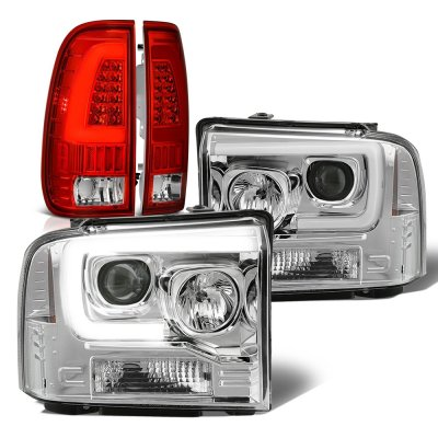 Ford F550 Super Duty 2005-2007 DRL Projector Headlights LED Tail Lights