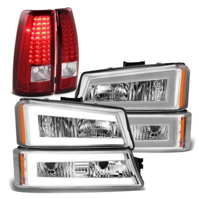 Chevy Silverado 2003-2006 Tube DRL Headlights LED Tail Lights