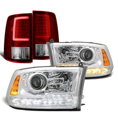 Dodge Ram 2009-2018 Premium DRL Projector Headlights LED Tail Lights