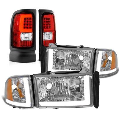 Dodge Ram 1994-2001 DRL Headlights Corner Lights LED Tail Lights