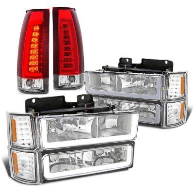Chevy Silverado 1994-1998 LED DRL Headlights Tail Lights