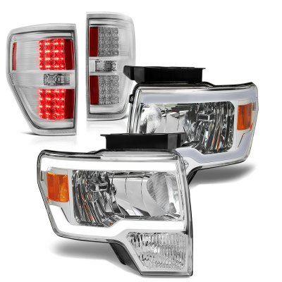 Ford F150 2009-2014 Clear DRL Headlights LED Tail Lights