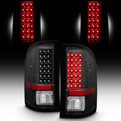 Chevy Silverado 2007-2013 Black LED Tail Lights