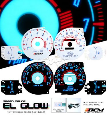 Mitsubshi Eclipse 1995-1999 Glow Gauge Cluster Face Kit
