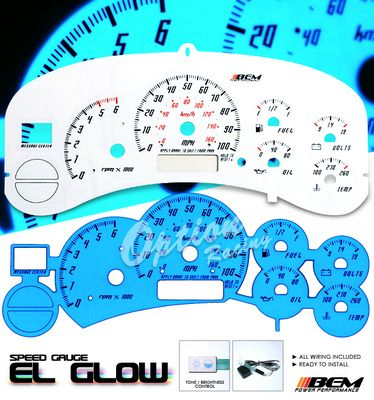 Chevy Tahoe 1999-2002 Glow Gauge Cluster Face Kit