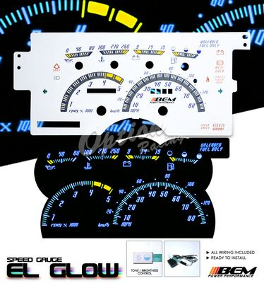 Chevy 1500 Pickup 1992 1994 Glow Gauge Cluster Face Kit