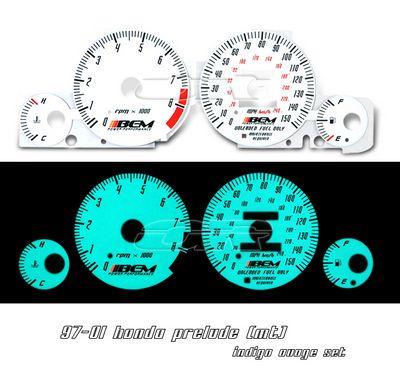 Honda Prelude 1997-2001 Glow Gauge Cluster Face Kit