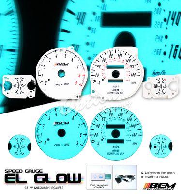 Mitsubishi Eclipse 1995-1999 Glow Gauge Cluster Face Kit