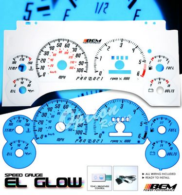 Chevy S10 1995-1997 Glow Gauge Cluster Face Kit