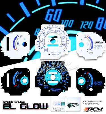 Honda Civic DX 1996-2000 Glow Gauge Cluster Face Kit