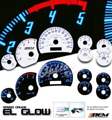Chevy Silverado 2003 2006 Glow Gauge Cluster Face Kit