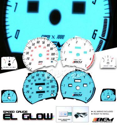 Saturn SL1 1995-1999 Glow Gauge Cluster Face Kit