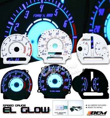 Toyota Camry 1997-2001 Reverse Glow Gauge Cluster Face Kit