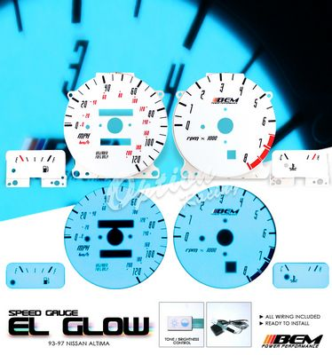 Nissan Altima 1993-1997 Glow Gauge Cluster Face Kit