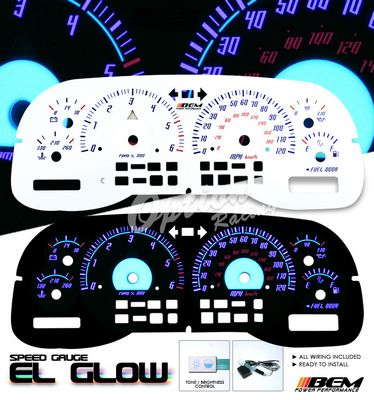 Dodge Dakota 1997 2000 Glow Gauge Cluster Face Kit