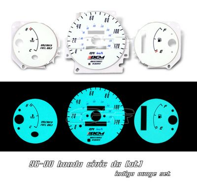 Honda Civic 1996-2000 Glow Gauge Cluster Face Kit