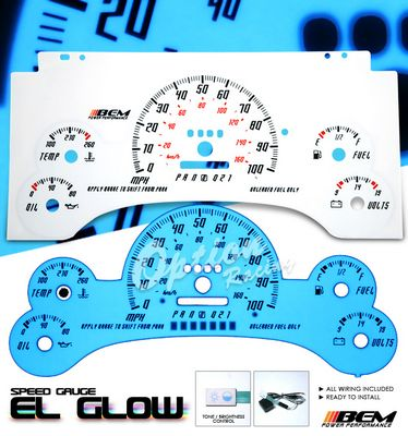 Chevy S10 Pickup 1995-1997 Glow Gauge Cluster Face Kit