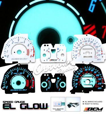 Honda Civic Si 1988-1991 Glow Gauge Cluster Face Kit