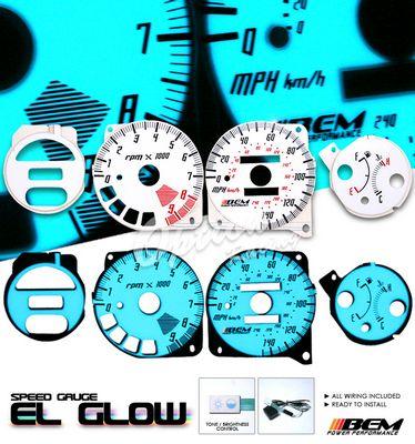 Honda Del Sol 1993-1997 Glow Gauge Cluster Face Kit