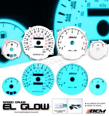 Mitsubishi Galant 1994-1998 Glow Gauge Cluster Face Kit