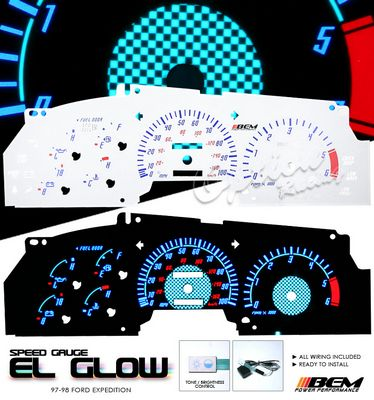 Ford Expedition 1997-1998 Glow Gauge Cluster Face Kit